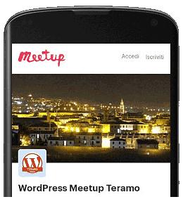 Iscriviti al gruppo WordPress Meetup Teramo mobile 02