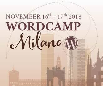WordCamp Milano 16 e 17 Novembre 2018 logo small in viaggio da WP Teramo