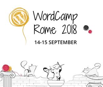WordCamp Roma 14 e 15 Settembre 2018 logo small in viaggio da WP Teramo