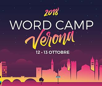 WordCamp Verona 12 e 13 Ottobre 2018 logo small in viaggio da WP Teramo