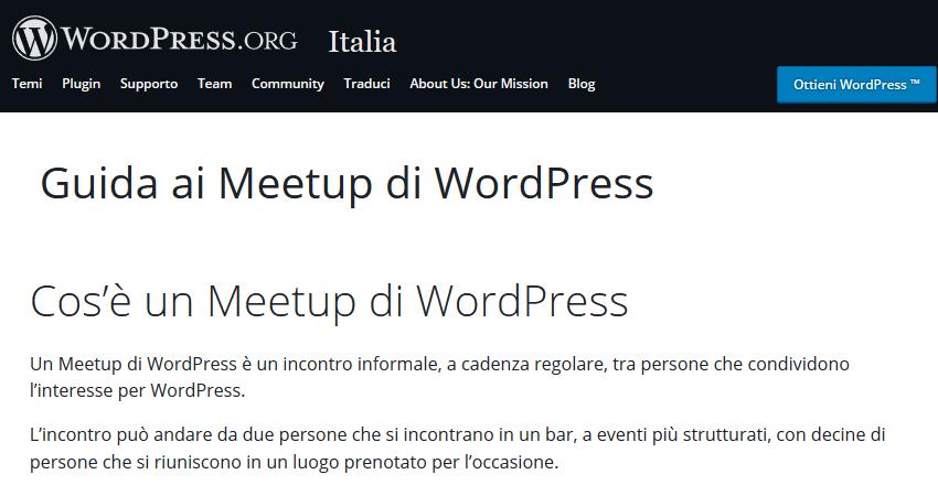 WordPress Meetup Teramo unisciti alla community Guida ai Meetup