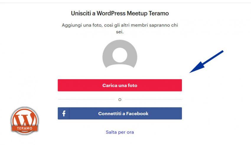 Manuale iscrizione gratuita al WordPress Meetup di Teramo parte 07