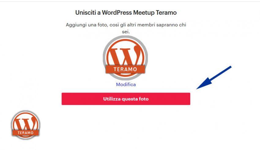Manuale iscrizione gratuita al WordPress Meetup di Teramo parte 08