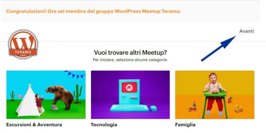 Manuale iscrizione gratuita al WordPress Meetup di Teramo parte 10