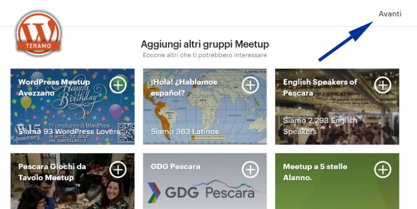 Manuale iscrizione gratuita al WordPress Meetup di Teramo parte 11