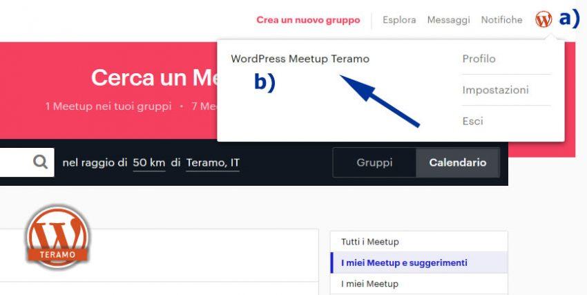 Manuale iscrizione gratuita al WordPress Meetup di Teramo parte 13