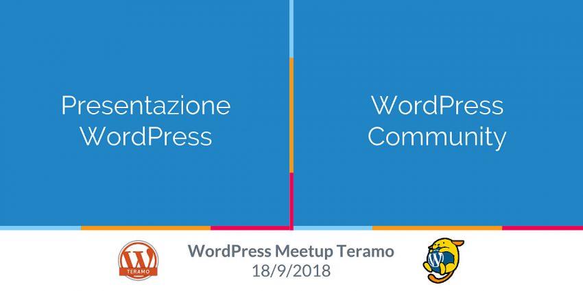 WordPress Meetup Teramo N 1 Resoconto del 18 Settembre 2018