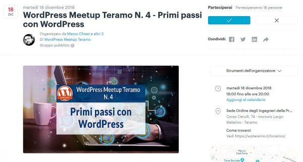 Installare WordPress dai primi passi a Gutenberg WordPress Meetup Teramo N 4 f02